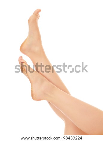 Legs and feet isolated on white background