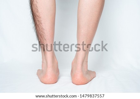 Legs hair removal for men, before and after. Apply to half of leg and one leg. #1479837557