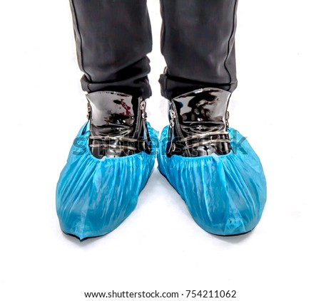 Legs in medical shoe covers #754211062