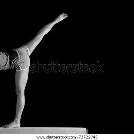 legs of a female gymnast
