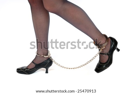 Shackled Women http://www.shutterstock.com/pic-25470913/stock-photo-legs-of-a-young-woman-in-shackles.html