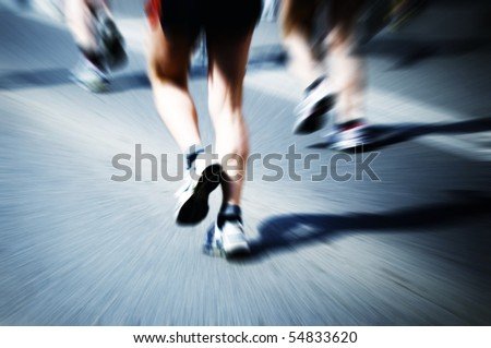 legs of marathon runners