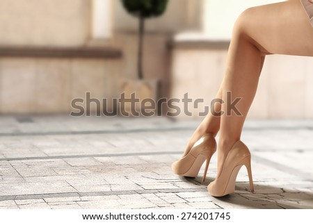 legs of woman and heels