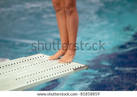 Legs on a springboard