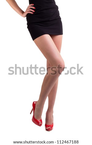 legs with high hill shoes, isolated