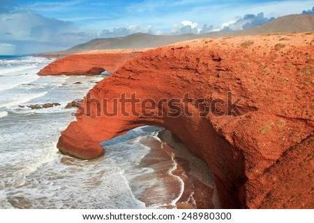 Shutterstock Legzira beach, Sidi Ifni, Souss-Massa-Draa, Morocco