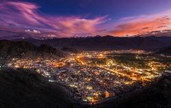 Leh Ladakh city and Mountains, Ladakh, India