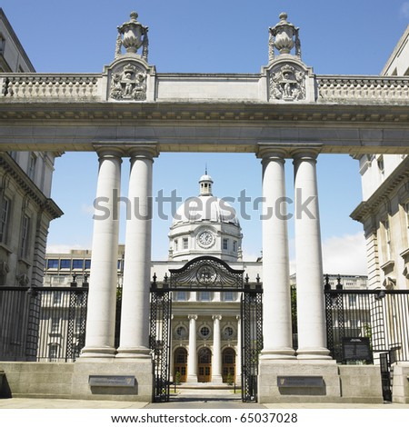 Leinster House, Dublin, Ireland - stock photo
