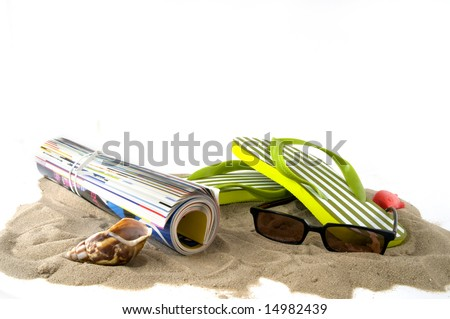 leisure at the beach on vacation - stock photo
