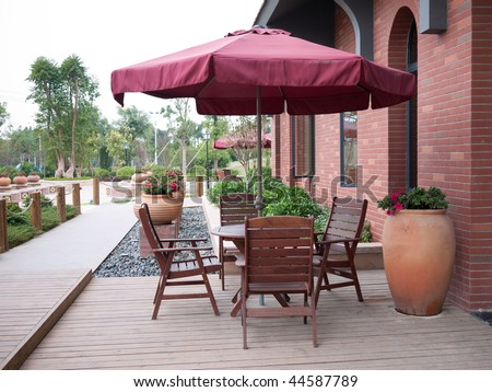 leisure chairs and table outdoor #44587789