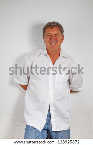 leisure man with hands in his jeans