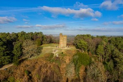 Leith Hill Tower, Dorking Surrey, on a sunny day.