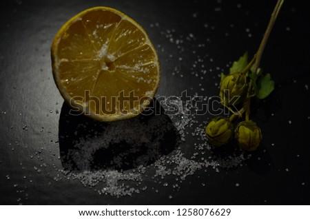 lemon and sugar composition #1258076629
