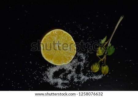 lemon and sugar composition #1258076632