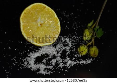 lemon and sugar composition #1258076635