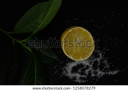 lemon and sugar composition #1258078279