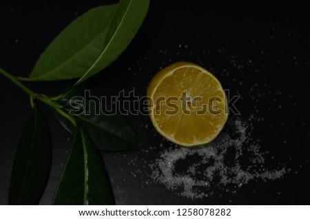 lemon and sugar composition #1258078282