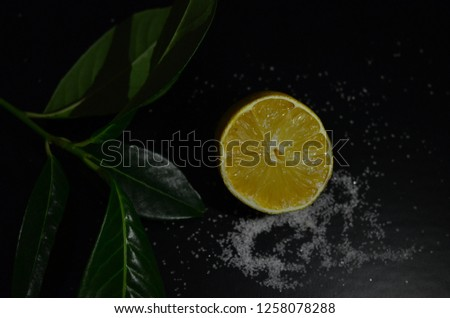 lemon and sugar composition #1258078288