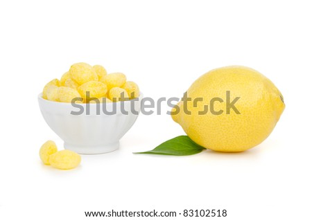 Lemon Candies and Lemon Fruit