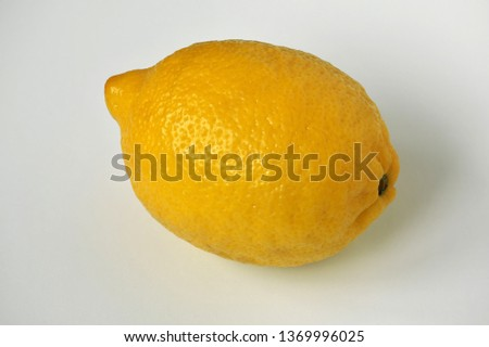 Lemon closeup on a white background closeup with a large depth of field