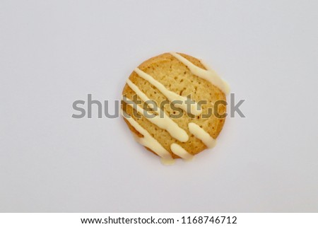 Lemon drizzle shortbread biscuit .yummy snack for a sweet treat cookie