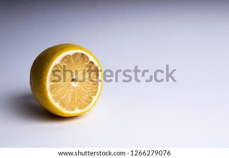 Lemon. Fresh lemon isolated on white. Lemon in a cut #1266279076