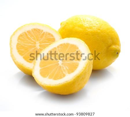 Lemon fruit isolated on white background