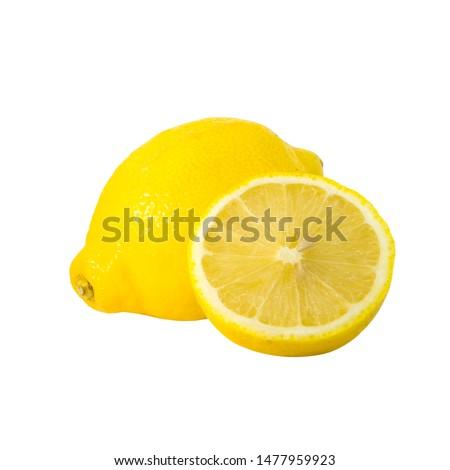 Lemon. Isolated background. isolated on white