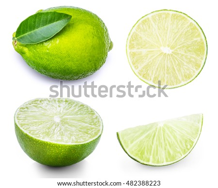 lemon, lime, citrus set isolated on white background #482388223