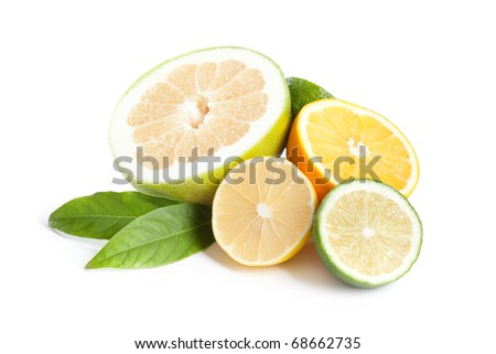 Lemon, lime,oranges and sweety
