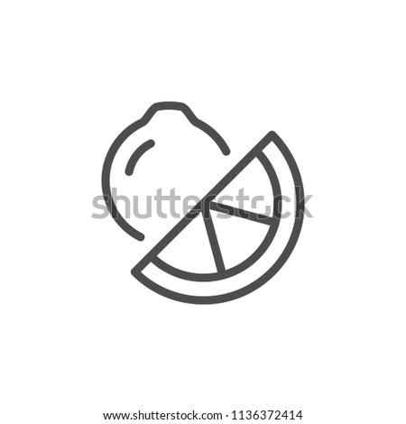 Lemon line icon isolated on white