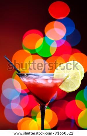 lemon on cocktail