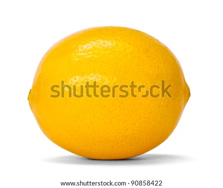 lemon over white with clipping path