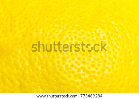 Lemon peel close up. The texture of the lemon peel. #773489284