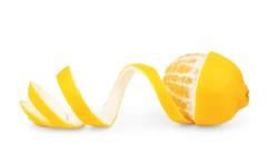 lemon peel isolated on white background
