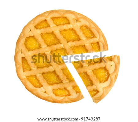 lemon pie isolated on a white background