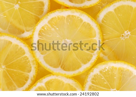 Lemon slice backgound