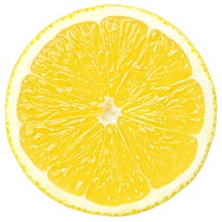 lemon slice, clipping path, isolated on a white background