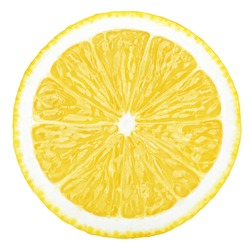lemon slice, clipping path, isolated on white background