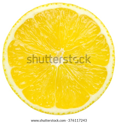 lemon slice, isolated on a white background