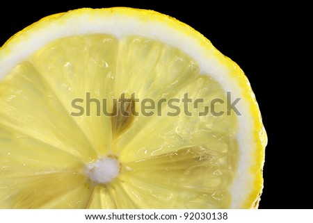 Lemon Slice isolated on black