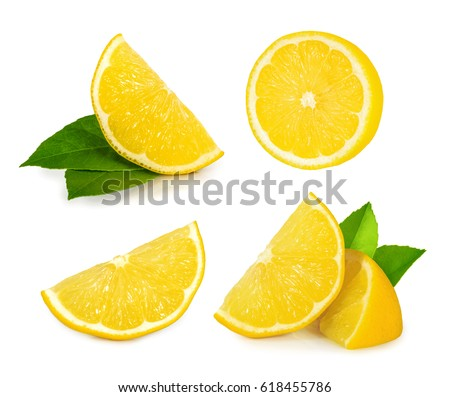 Lemon slice isolated on white