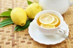 lemon tea with lemon