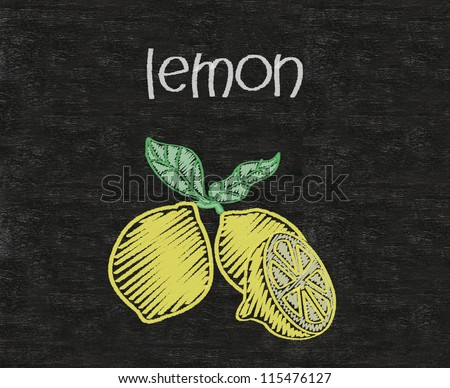 lemon written on blackboard background high resolution