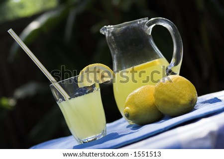 lemonade on table