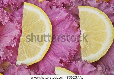 Lemons and vegetable