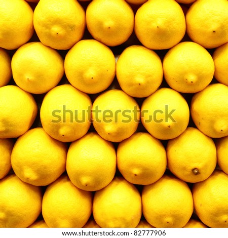 Lemons close-up, may be used as background