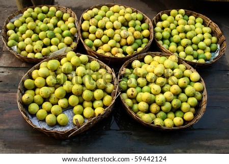 Lemons for selling at an Indian market