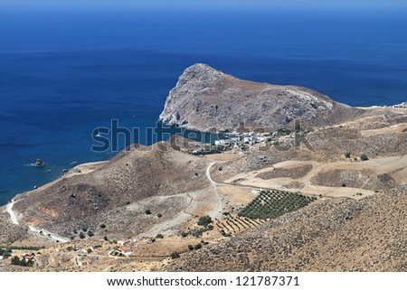 Lendas bay at Crete island in Greece. South coast, the Libyan sea