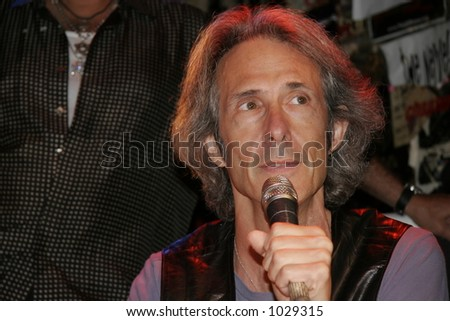 Lenny Kaye of Patti Smith's band at a Save CBGBs benefit